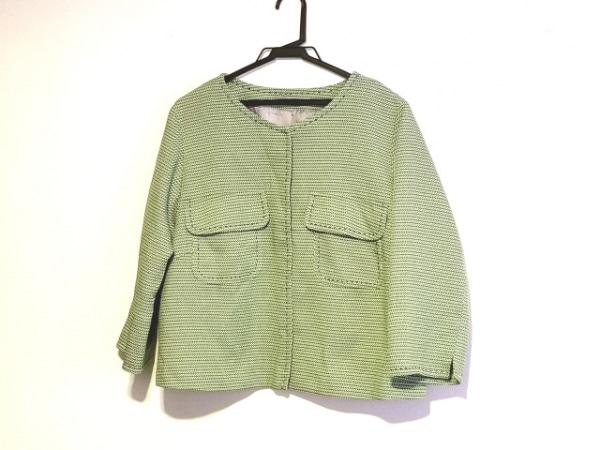 HIROKO BIS(ヒロコビス) ジャケット サイズ17 XL レディース ライトグリーン×グレー