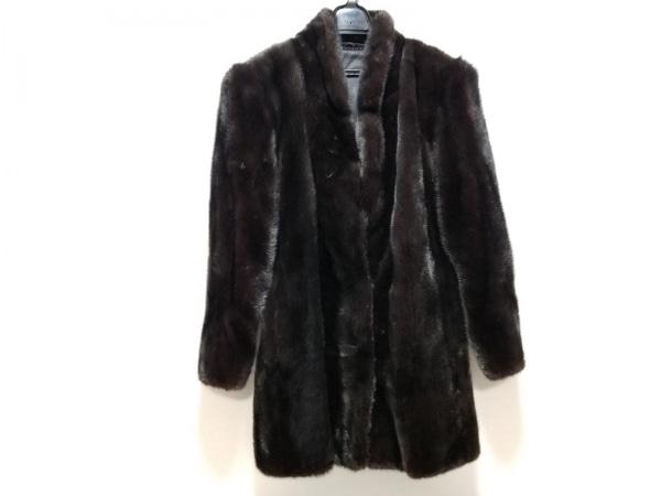 SAGA MINK(サガミンク) コート サイズ11 M レディース 黒 ファー/冬物