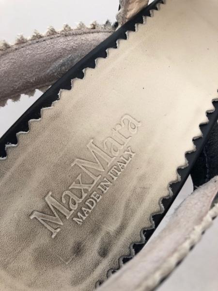 Max Mara(マックスマーラ) サンダル 37 レディース 黒×白 レザー