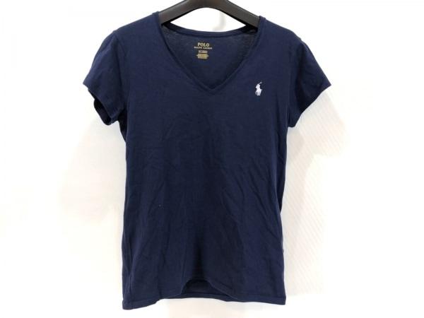 ポロラルフローレン 半袖Tシャツ サイズM レディース美品  ダークネイビー