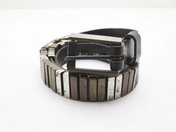 ハリウッドトレーディングカンパニー ベルト 80/32 黒×シルバー×マルチ
