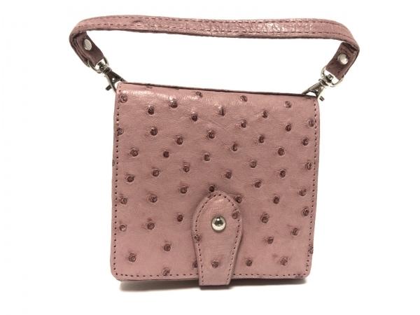 SANPO(サンポー) 2つ折り財布美品  ピンク オーストリッチ