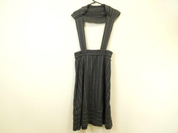 ジェーンマープル スカート サイズM レディース美品  ダークグレー×ライトブルー