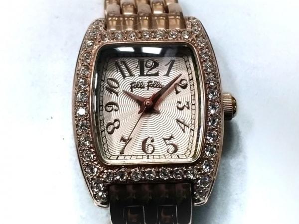 フォリフォリ 腕時計 WF5R142BP レディース ラインストーン ピンクベージュ