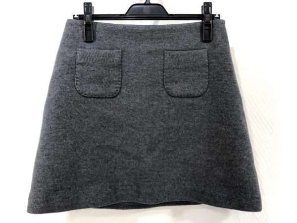 ESTNATION(エストネーション) スカート サイズ38 M レディース美品  ダークグレー