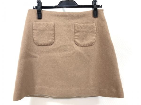 ESTNATION(エストネーション) スカート サイズ38 M レディース美品  ベージュ