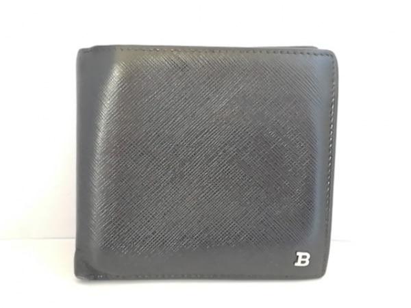 BALLY(バリー) 2つ折り財布 黒 レザー