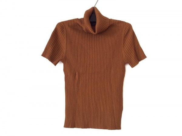 ニジュウサンク 半袖カットソー サイズ38 M レディース美品  ブラウン タートルネック