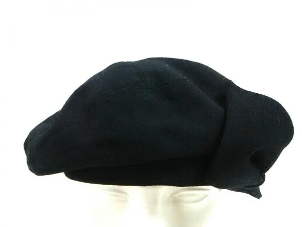 misaharada(ミサハラダ) 帽子 黒 リボン ウール
