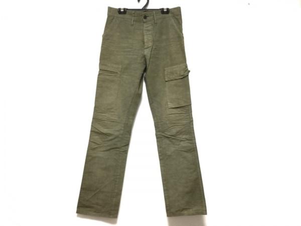 FULLCOUNT(フルカウント) パンツ サイズ28 メンズ カーキ ダメージ加工