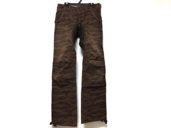 FULLCOUNT(フルカウント) パンツ サイズS メンズ ブラウン×ダークブラウン 迷彩柄