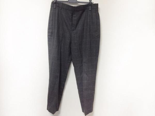 ポロラルフローレン パンツ サイズ8 M レディース美品  ダークグレー×グレー 格子柄