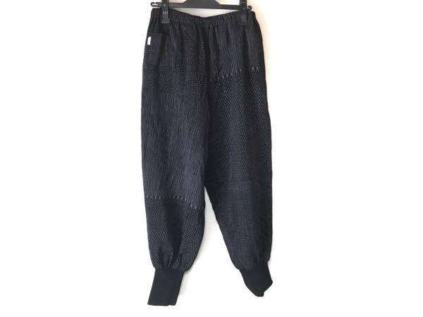 SOU・SOU(ソウソウ) パンツ レディース 黒×グレー ウエストゴム/岡田縫工所