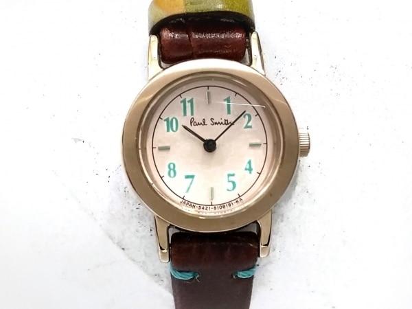 PaulSmith(ポールスミス) 腕時計美品  - 5421-S073871 レディース 革ベルト ベージュ