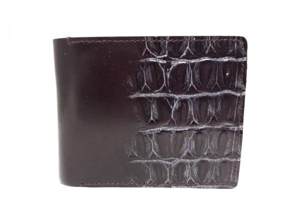 INCASE(インケース) 2つ折り財布 パープル 型押し加工 レザー