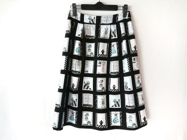 M'S GRACY(エムズグレイシー) スカート サイズ38 M レディース 黒×白×マルチ