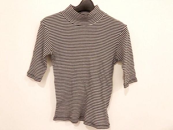 agnes b(アニエスベー) 七分袖カットソー サイズ1 S レディース 黒×白 ボーダー