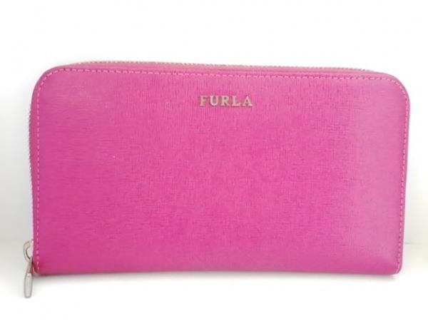 FURLA(フルラ) 長財布 ボルドー ラウンドファスナー レザー