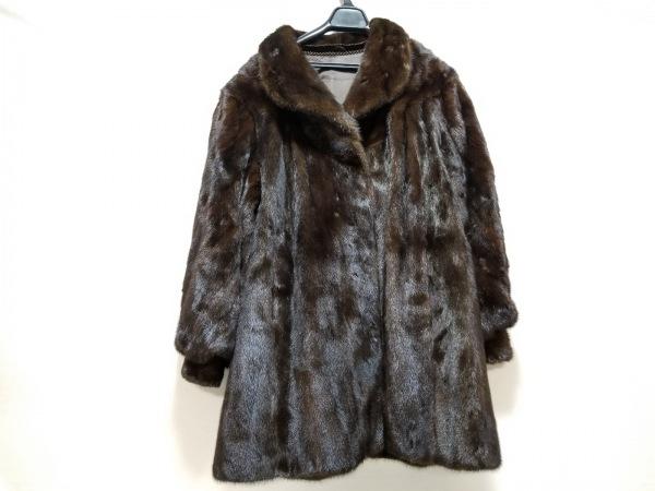 SAGA MINK(サガミンク) コート サイズ13 L レディース美品  ダークブラウン 冬物