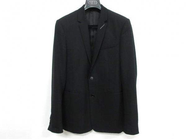 ディオールオム ジャケット サイズ46 L メンズ 黒×レッド 肩パッド/刺繍/2018SS