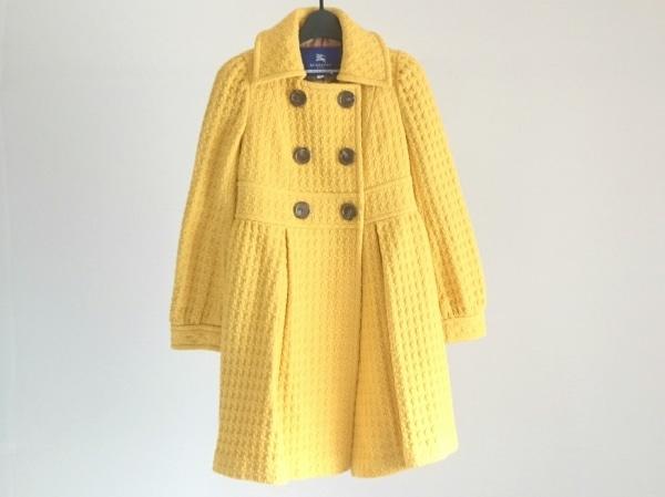 バーバリーブルーレーベル コート サイズ38 M レディース美品  イエロー 冬物