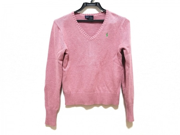 RalphLauren(ラルフローレン) 長袖セーター サイズXL(16) レディース美品  ピンク