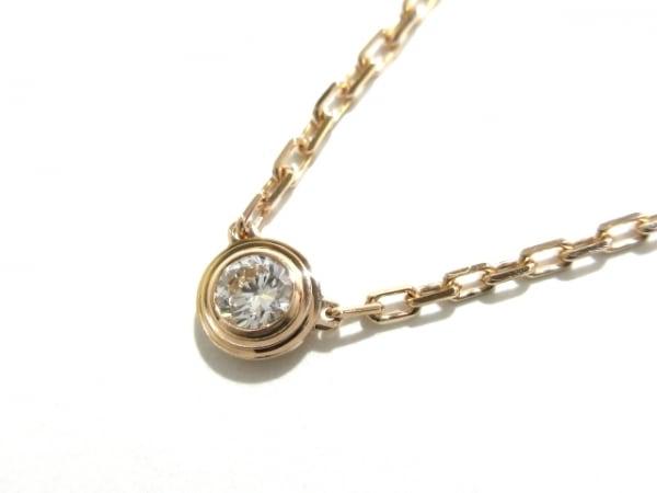 カルティエ ネックレス美品  ディアマンレジェドゥSM B7215700 K18PG×ダイヤモンド