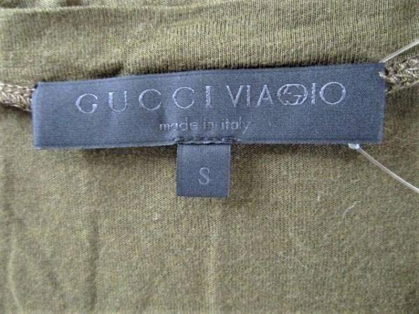 GUCCI(グッチ) 長袖Tシャツ サイズS レディース カーキ VIAGGIO