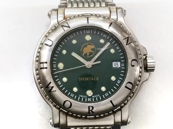 HUNTING WORLD(ハンティングワールド) 腕時計 SPORTAGE SPGMBD メンズ グリーン