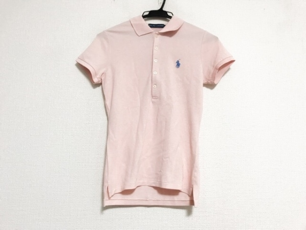 RalphLauren(ラルフローレン) 半袖ポロシャツ サイズS レディース美品  ピンク ニット