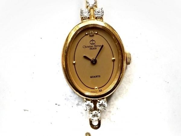 クリスチャンベルナール 腕時計 - レディース ラインストーン ライトブラウン