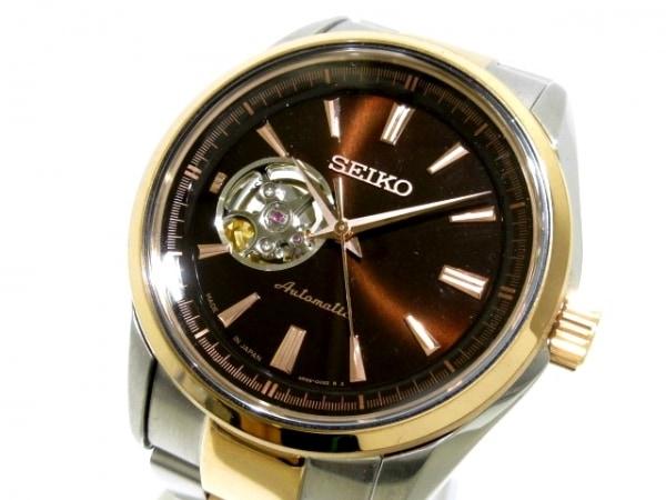 SEIKO(セイコー) 腕時計美品  プレサージュメカニカル 4R38-00S0 メンズ 黒