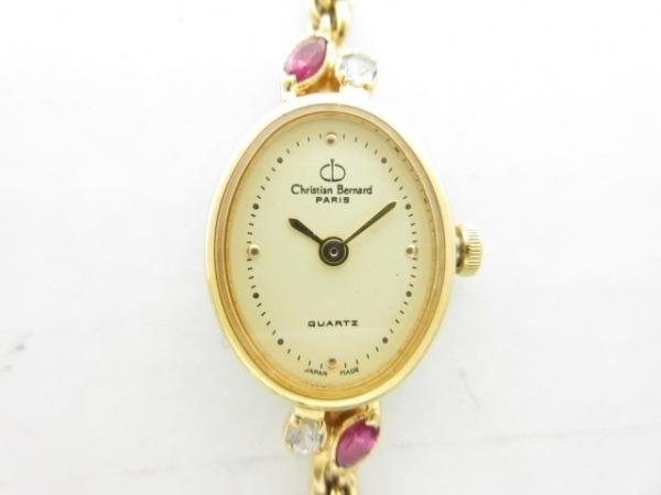 Christian Bernard(クリスチャンベルナール) 腕時計美品  - レディース アイボリー