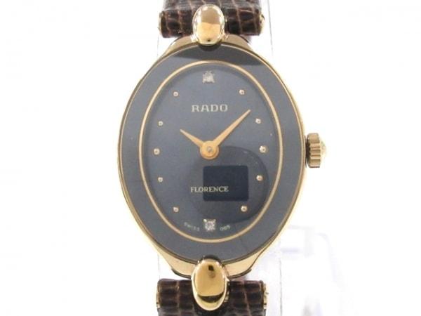 RADO(ラドー) 腕時計美品  フローレンス 153.3650.2 レディース ダークネイビー