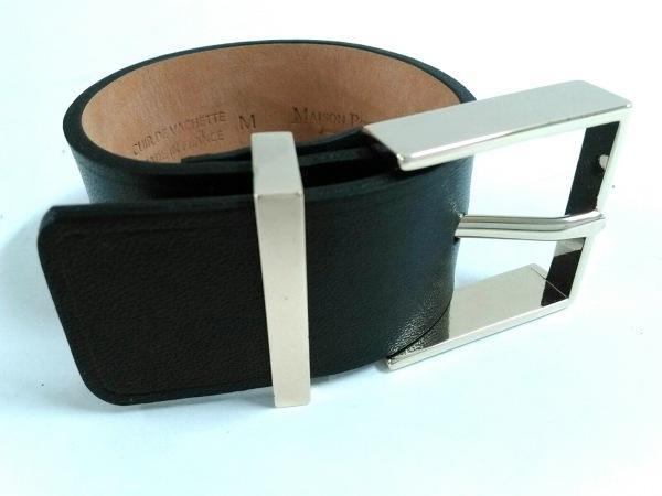 メゾンボワネ ブレスレット美品  レザー×金属素材 黒×ゴールド サイズ:●M