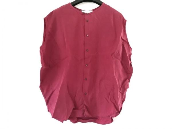 KNOTT(ノット) ノースリーブシャツブラウス サイズ1 S レディース美品  レッド