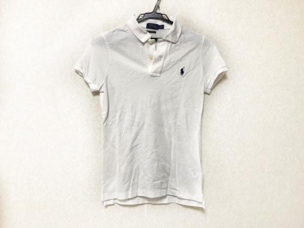 POLObyRalphLauren(ポロラルフローレン) 半袖ポロシャツ サイズS レディース 白