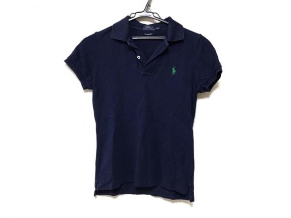 POLObyRalphLauren(ポロラルフローレン) 半袖ポロシャツ サイズS レディース ネイビー