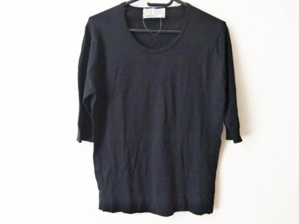 JOHN SMEDLEY(ジョンスメドレー) 七分袖Tシャツ サイズS レディース美品  黒