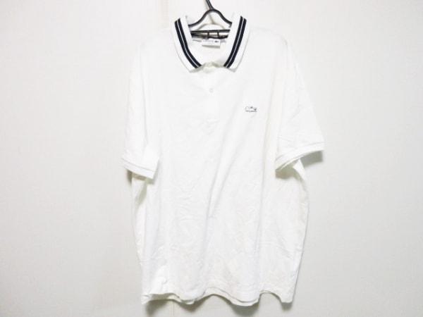 Lacoste(ラコステ) 半袖ポロシャツ サイズXL メンズ 白×ネイビー