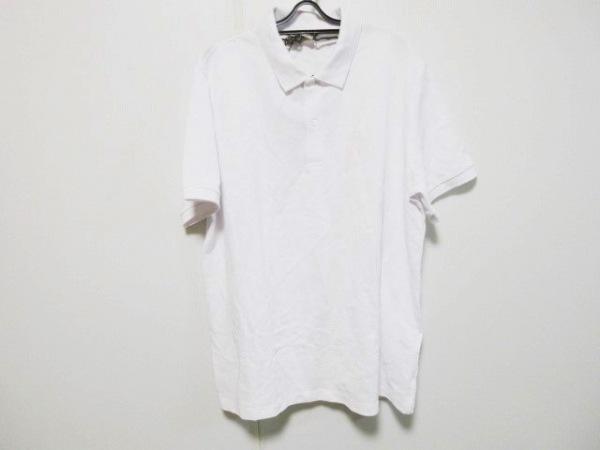 バーバリー 半袖ポロシャツ サイズXXL XL メンズ新品同様  白 LONDON ENGLAND