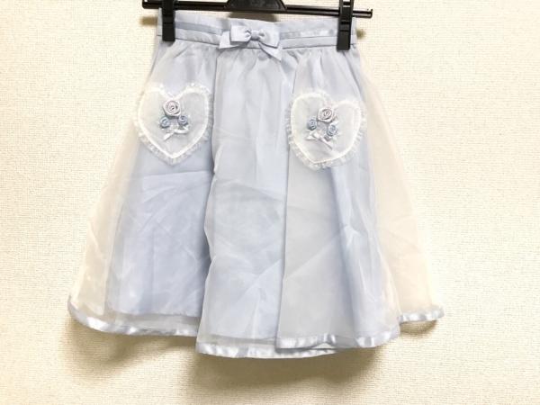 シークレットハニー ミニスカート サイズ2 M レディース美品  ライトブルー