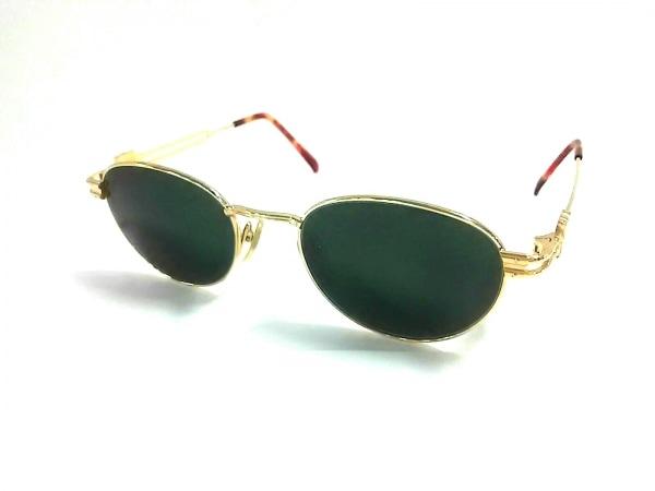 ゴルチエ サングラス美品  58-5172 ダークグリーン×ゴールド×ブラウン 度入り