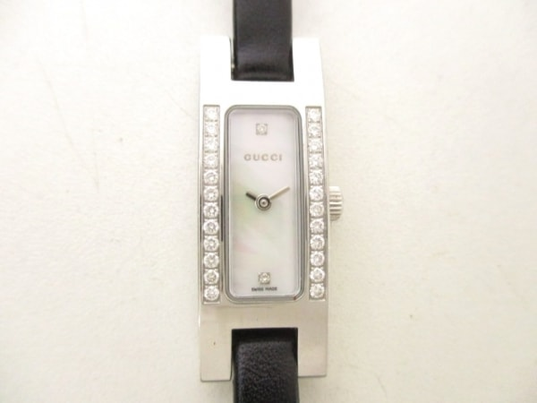 GUCCI(グッチ) 腕時計 3900L レディース シェルホワイト