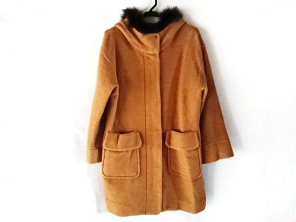 ブラーミン コート サイズ38 M レディース ブラウン×ダークブラウン 冬物/ファー