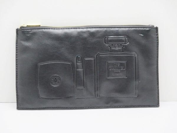 CHANEL PARFUMS(シャネルパフューム) ポーチ美品  黒 レザー