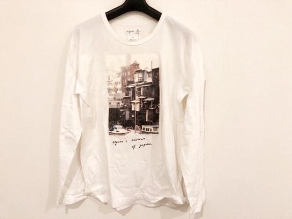 agnes b(アニエスベー) 長袖Tシャツ サイズM メンズ ダークブラウン×黒×マルチ