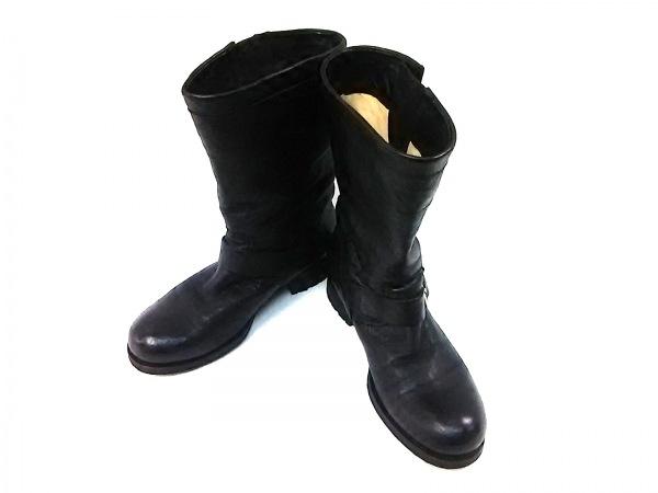 JIMMY CHOO(ジミーチュウ) ブーツ 38 レディース 黒 レザー