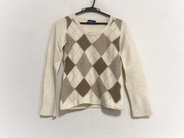 バーバリーブルーレーベル 長袖セーター サイズ38 M レディース アーガイル