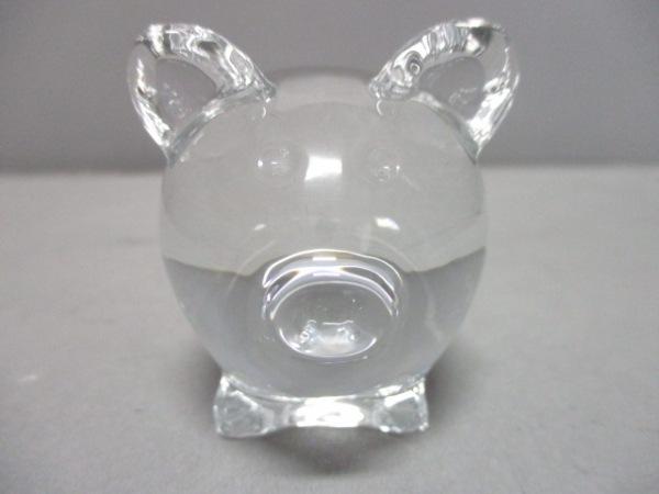 Baccarat(バカラ) 小物新品同様  クリア 置物/ブタ クリスタルガラス